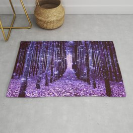 Magical Forest Purple Rug