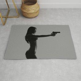 Girls love guns Rug
