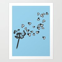 dandelion Art Prints featuring DandeLion by Erik Sandi Satresa