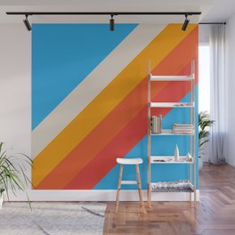 Gefjun - Classic Minimal Retro Summer Style Stripes Wall Mural