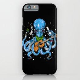 Hippie Octopus Smoking Weed iPhone Case
