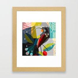 huia clock Framed Art Print