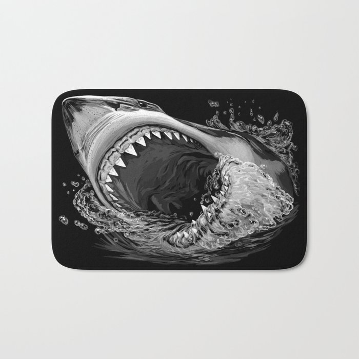 Shark Painting 2 Bath Mat