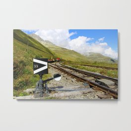Ancient mountain railway Metal Print