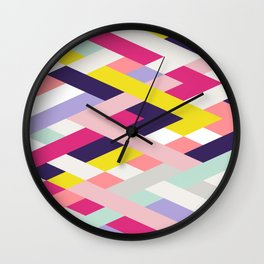 Smart Diagonals Blue Wall Clock