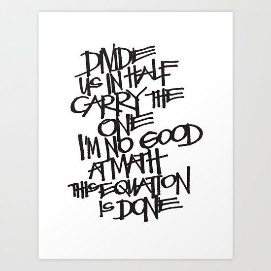 Divide Us Art Print
