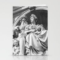vienna Stationery Cards featuring Vienna statue by Veronika