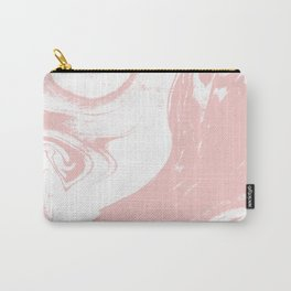Marble pastel pink 3 Suminagashi watercolor pattern art pisces water wave ocean minimal design Carry-All Pouch