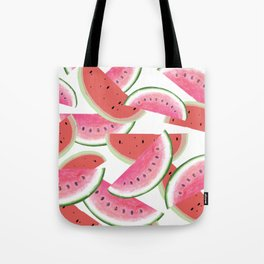 sweet watermelon pattern in pink and red colors Tote Bag