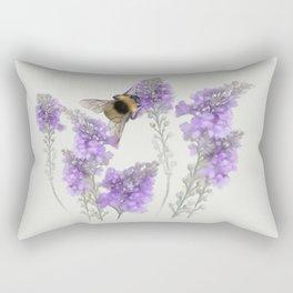 Watercolor Bumble Bee Rectangular Pillow