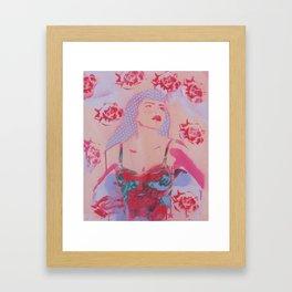 Polka girl Rose Framed Art Print