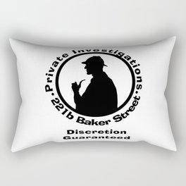 Sherlock Holmes Discretion Guaranteed Rectangular Pillow