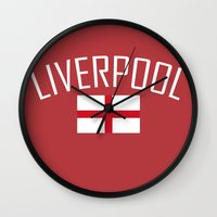 liverpool Wall Clocks featuring Liverpool by Earl of Grey