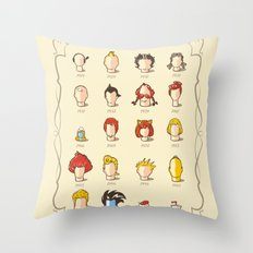 The Marvelous Cartoon Wigs Museum Throw Pillow
