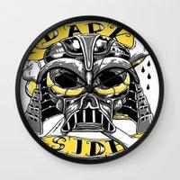 dark side Wall Clocks featuring dark side by Vincent Trinidad