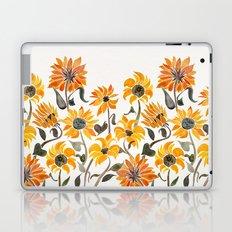 Sunflower Watercolor – Yellow & Black Palette Laptop & iPad Skin