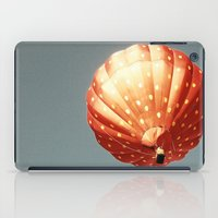 baloon iPad Cases featuring Strawberry hot air baloon by Wood-n-Images