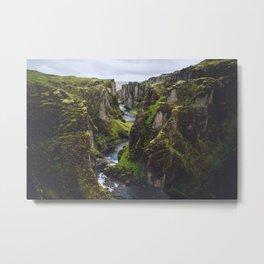 Icelandic Canyon Metal Print