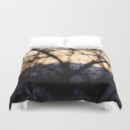 Spooky sunset Duvet Cover