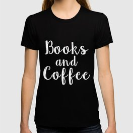 Books and Coffee - Inverted T-shirt