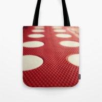 polka dot Tote Bags featuring Polka dot by Losal Jsk