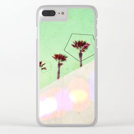 Levitated Mass (Green) Clear iPhone Case