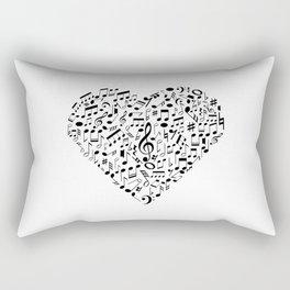 I Love Music | Musical Symbols Musician Rectangular Pillow
