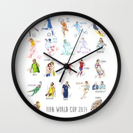 FIFA World Cup 2014 Moments! Wall Clock