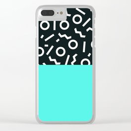 Memphis pattern 48 Clear iPhone Case