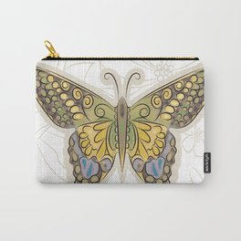 Antique Butterfly Carry-All Pouch