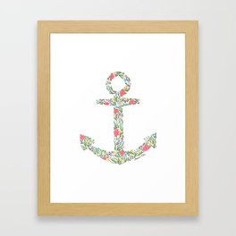 Floral Anchor Framed Art Print
