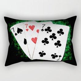 Blackjack Card Game, 21 Count, Three Times Seven Combination Rectangular Pillow