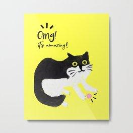 Murphy the cat Metal Print