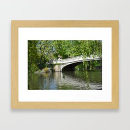 Bow Bridge in Springtime Framed Art Print