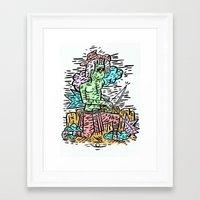 hunter Framed Art Prints featuring Hunter by Joshua Neal