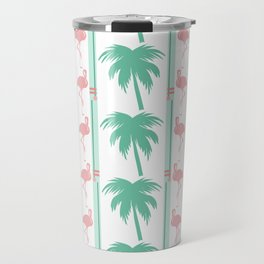 Art Deco Palm Trees and Flamingos Travel Mug