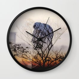 Double Exposure Outdoor Wall Clock
