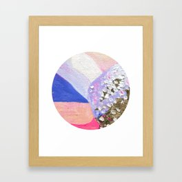 Abstraction World #1. Round version 2 Framed Art Print