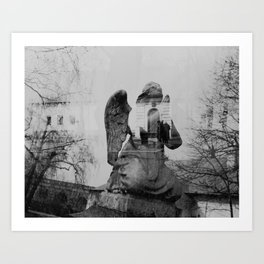 Angel. Novodevichy convent. Moscow. Art Print