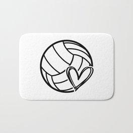 Volley love. Volleyball team coach gift Bath Mat