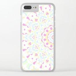 Folksy Mandala 2 Clear iPhone Case