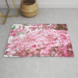 PRETTY PINK FLOWERS - DOGWOOD TREE 3 Rug