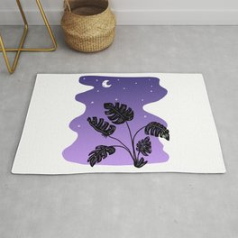 Just Before Dawn in Paradise - Monstera Plant Rug