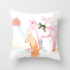 April Dream Throw Pillow