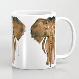 Mother Elephant Brown Coffee Mug