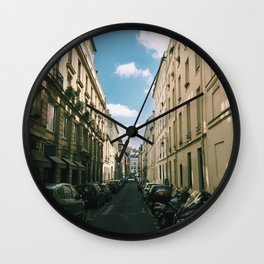 A Walk Through Paris Wall Clock