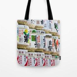 Barrels of Sake Tote Bag