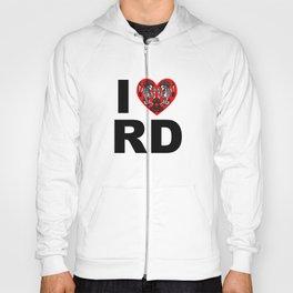 I heart roller derby Hoody