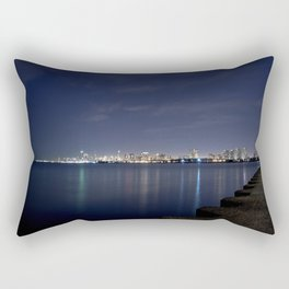 Chicago from Afar at Night Rectangular Pillow