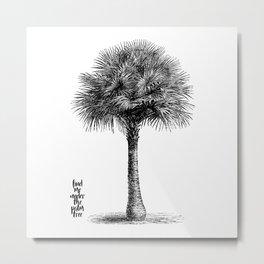 palm tree botanical no1 Metal Print